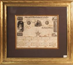 REPUBLIC OF TEXAS GOVERNMENT BOND $100 #512