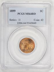 1899 Indian Head Cent  ~ Super Nice Coin ~ PCGS  64 Red