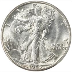 1935-D Walking Liberty Half Dollar PCGS MS64 Frosty White