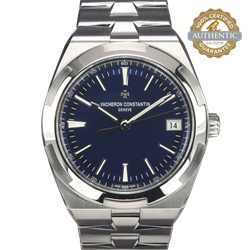 Vacheron Constantin 41mm Overseas Automatic 4500V Blue Dial Three Band/ Bracelet with Box and Card