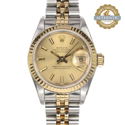 Ladies Rolex DateJust 69173  Two tone Box and Papers