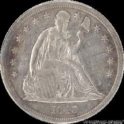 1843 Seated Liberty Dollar PCGS AU50