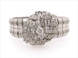 1.3cttw Nice Diamond And 18k White Gold Bracelet
