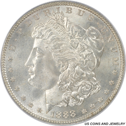 1888 Morgan Silver Dollar PCGS MS66 Frosty White Rolling Luster