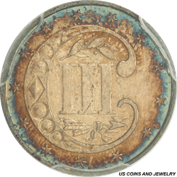 1873 Three Cent Silver Trime Proof Toned PCGS