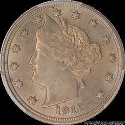 1912 Liberty 5C PCGS MS 63
