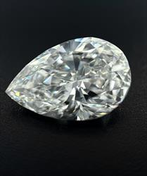 GIA Certified 4.05ct Pear Cut Diamond  - D Color, Si1 Clarity
