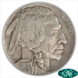 1918-D Buffalo Nickel PCGS and CAC XF40