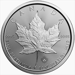 1 OZ PLATINUM MAPLE LEAF