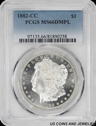 1882-CC Morgan Silver Dollar PCGS