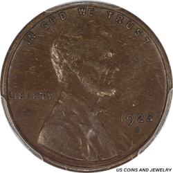 1921-S Lincoln Cent Wheat - Super Nice Brown Surface - PCGS BN 53 - Very Nice Coin