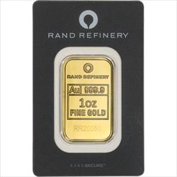 1 OZ GOLD BAR RAND REFINERY
