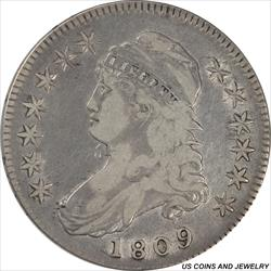 1809 Capped Bust Half Dollar Very Fine