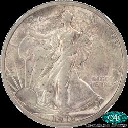 1916 Walking Liberty Half Dollar NGC CAC MS62