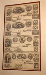 REPUBLIC OF TEXAS UNCUT SHEET $2 $2 $3 & $5 NEW ORLEANS/NACOGDOCHES