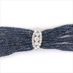 500+/- Cttw Natural Blue Sapphire & 1.75cttw Diamond Necklace