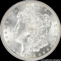 1888-S Morgan Silver Dollar PCGS MS64 Rolling Brilliant White