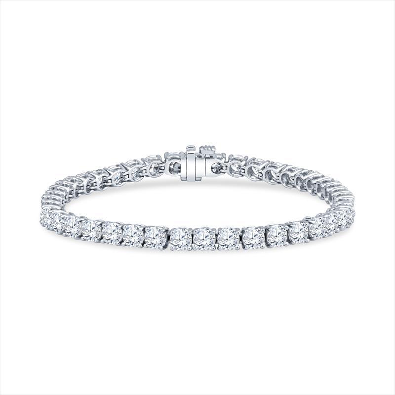 10.50cttw Diamond and Platinum Tennis Bracelet (42 ROUNDS) .25 AVG F-G-SI