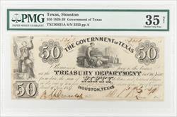 Texas, Houston $50 GoT Note PMG VF35 NET Fr# TXCRH21A   3353 pp A