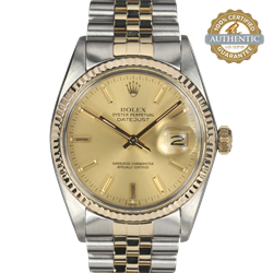 Rolex 36mm Datejust 16013 Champagne  TT SS and 18K YG Jubilee Watch only