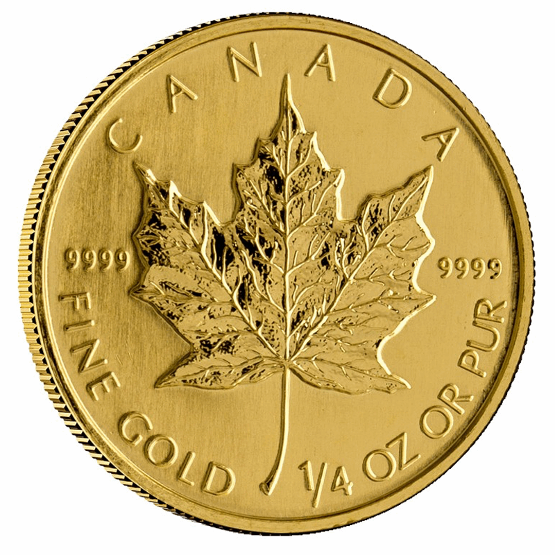 1/4 OZ GOLD MAPLE LEAF