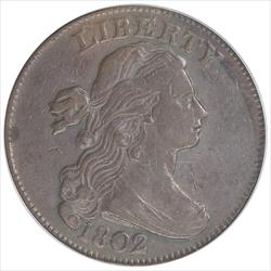 1802 Draped Bust Large Cent PCGS VF35BN Old Green Holder