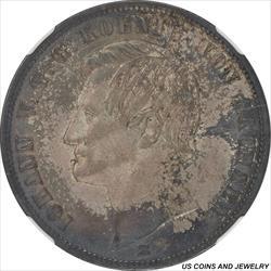 German State: Saxony 1866 B Johann Silver Thaler NGC AU58 KM#1214