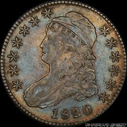 1820  Capped Bust Half Dollar PCGS XF45 Sq. 2 Lg Date No Knob