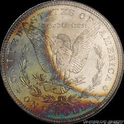 1882-S Morgan Silver Dollar NGC MS 64 * Colorful Rainbow Toning