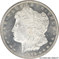 1879-S Morgan Silver Dollar PCGS MS65DMPL Electric Static Fields of Black and White