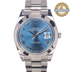 Rolex 41mm Datejust Ref/126300 Watch and Card