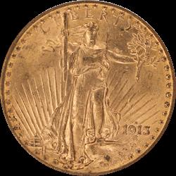 1913-D Saint St. Gaudens $20 Gold Double Eagle NGC MS 61