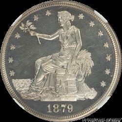 1879 US Silver Trade Dollar NGC PF63 CAMEO - Nice White Coin