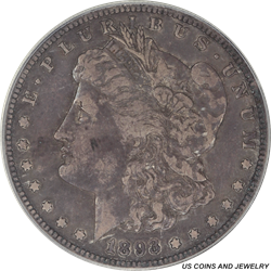 1893-S Morgan Silver Dollar PCGS VF30 Low Mintage Key Date