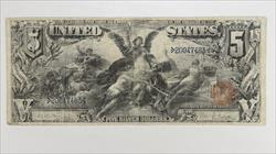 1896 $5 Silver Certificate S/N 20047463 Fr. 269 $5 Educational  Circulated Fine