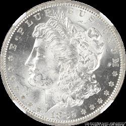 1882-O Morgan Silver Dollar NGC MS63 Frosty Satin White Rolling Cartwheel Luster