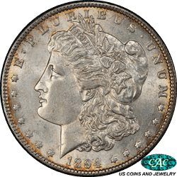 1894 P Morgan Silver Dollar PCGS CAC AU58