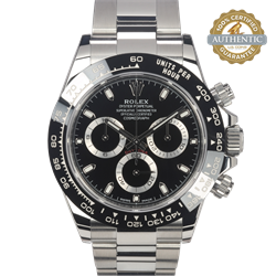 Rolex 40mm Daytona 116500LN Black Dial on Stainless Steel Oyster Bracelet With Card