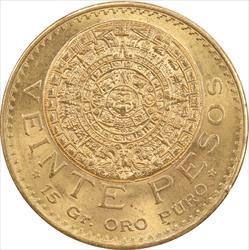 Mexico 20 Pesos Gold .4823 troy ounces of gold