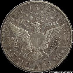 1892-S Barber Half Dollar AU Details