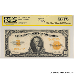 1922 $20 Gold Certificate  PCGS EF45 PPQ Fr. 1173 - Fort Knox Gold Reserve