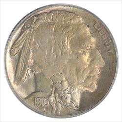 1916-S Buffalo Nickel PCGS MS62 Select Uncirculated OGH