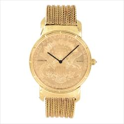 Corum $20 Gold Double Eagle Watch with Gold Bracelet
