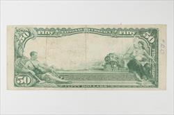 1902 Plain Back $50 First National Bank of Houston, Charter 1644