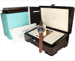 Patek Philippe 40.5mm Tiffany Dial Annual Calendar  5960G Box and Papers