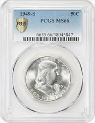 1949-S Franklin Half Dollar PCGS MS66