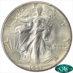 1941 Walking Liberty Half Dollar PCGS MS 67 CAC