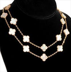 Van Cleef and Arpels Vintage Alhambra 20 Motif Necklace