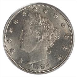 1885 Liberty V Nickel PCGS MS64 Sharp Key Date Coin