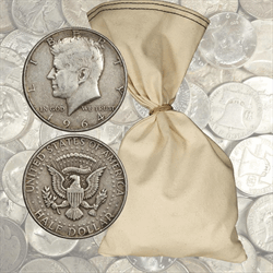 $500 Face Value 90% Silver Halves 1000 total coins 1964 and before